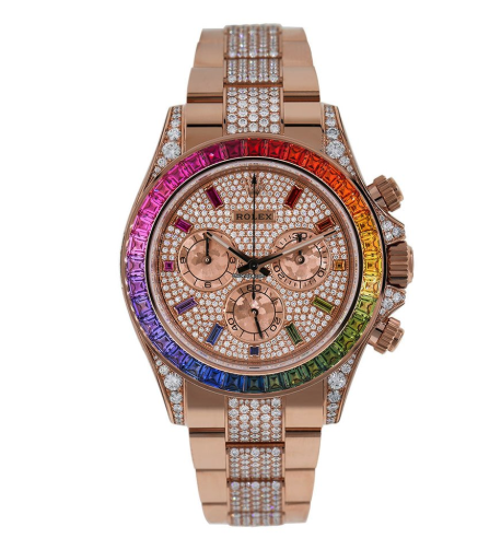 Rolex Cosmograph Daytona Everose Rainbow Watch 116595RBOW
